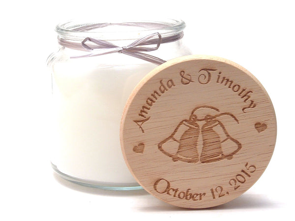 16oz Personalized Scented Jar Candle: Wedding Bells