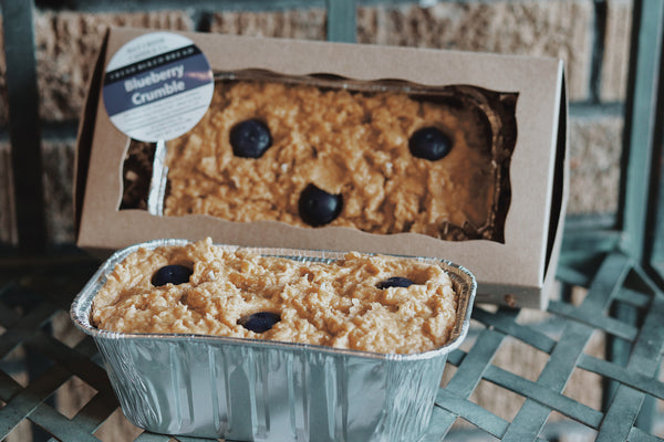 Fresh Baked Mini Bread Candle: Blueberry Crumble