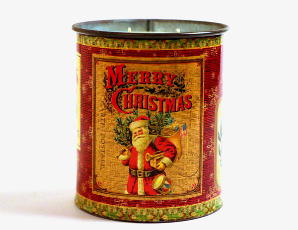 Nostalgic 15oz Holiday Tin Candle: Merry & Bright