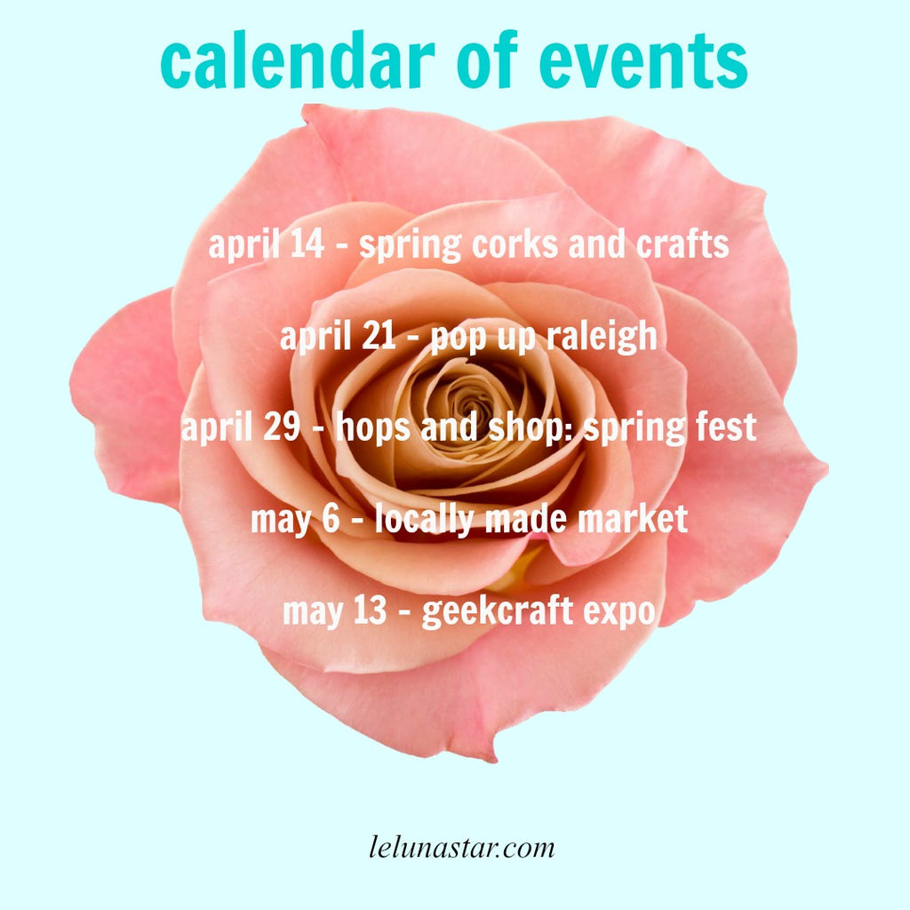April & May Events: Welcome to the second busiest time of year!