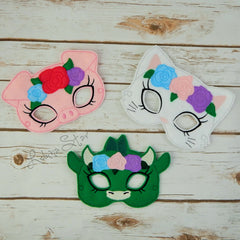 Floral Crown Animal Masks