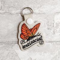 Antisocial Butterfly Keychain