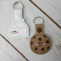 Cookie and Milk Key Chain Set