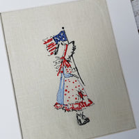 Bonnet Girl with Flag