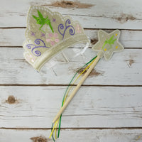 Green Fairy Crown and Wand