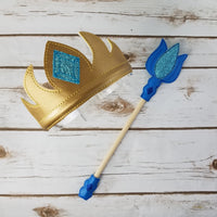 Ice Queen Crown and Wand