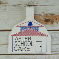 After School Book Bag Tag and Key Chain