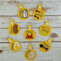 Key Chains - Allergy Alert
