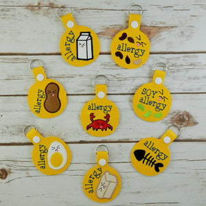 Allergy Alert Key Chains