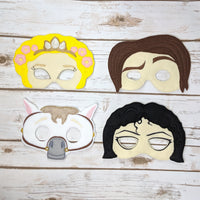Golden Hair Princess Masks