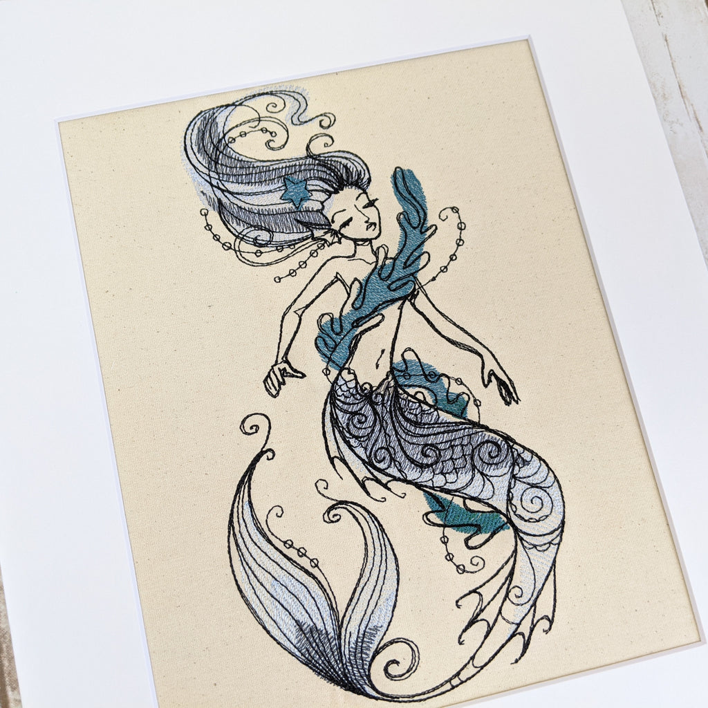 Blue Mermaid Art