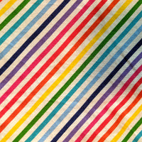 Cotton Face Mask -  Rainbow Stripes