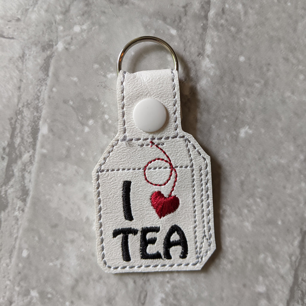 I Love Tea Keychain