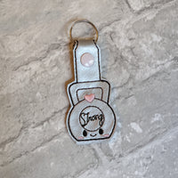 Strong Kettlebell Keychain