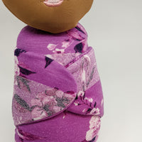 Lou Lou Swaddle Sweetie in Purple Floral Stripes