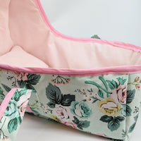 Baby Doll Bed in Mint Floral