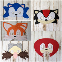 Blue Hedgehog Masks
