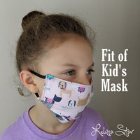 Cotton Face Mask -  Yellow & Blue Floral