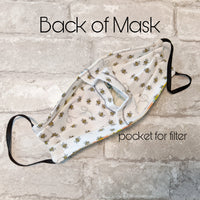 Premium Cotton Face Mask - Diamonds