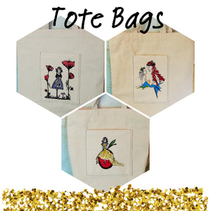 Stitches of Art Tote Bags - In Stock