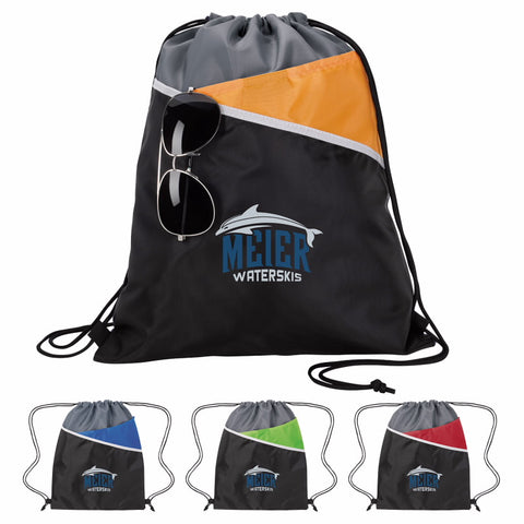 15848 - Tri-Tone Drawstring Backpack