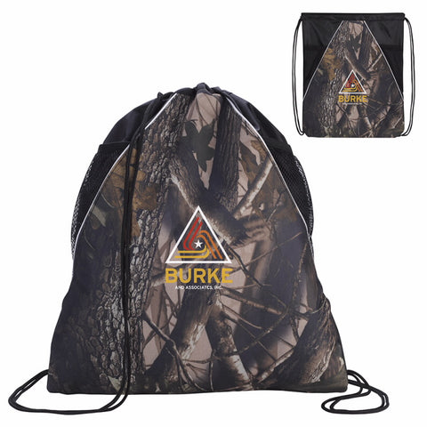 15867 - Camouflage Drawstring Backpack