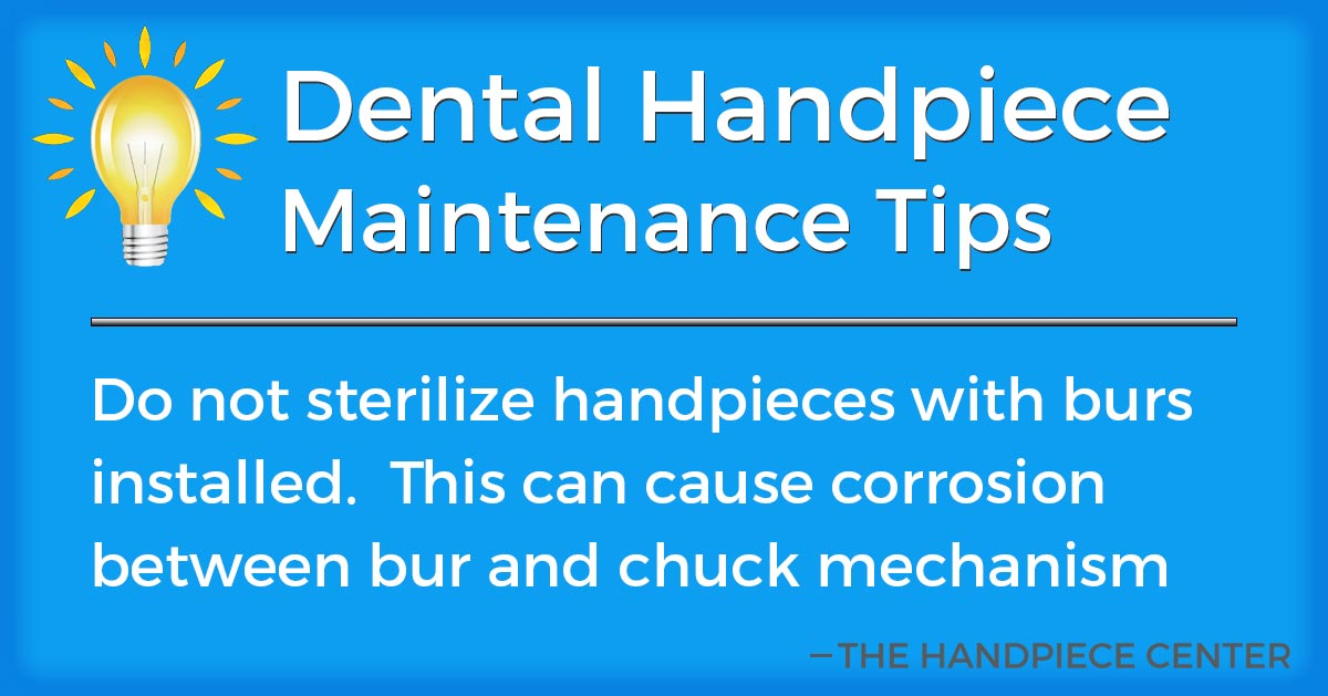 Thursday Tip # 12 by The Handpiece Center