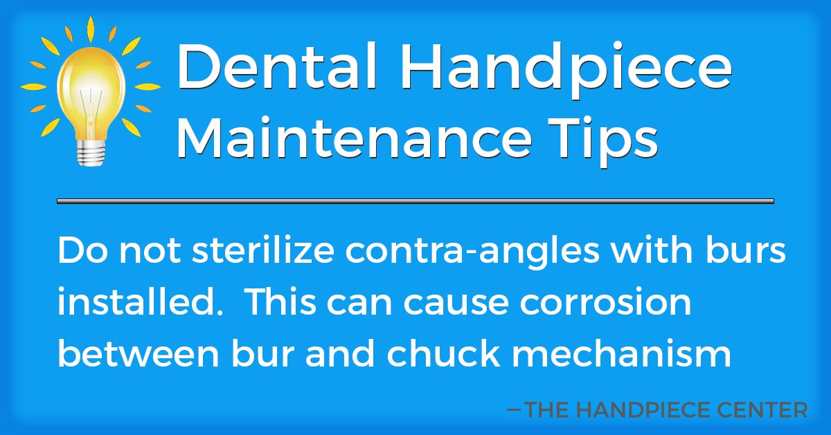 Thursday Tip # 16 by The Handpiece Center