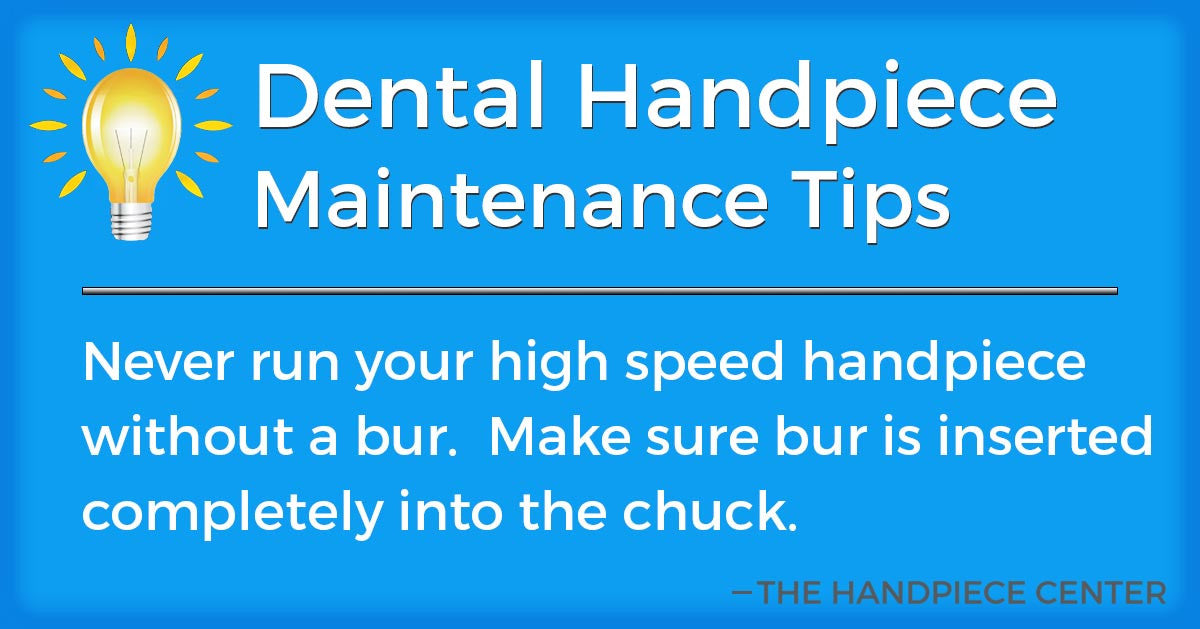 Thursday Tip # 6 by The Handpiece Center