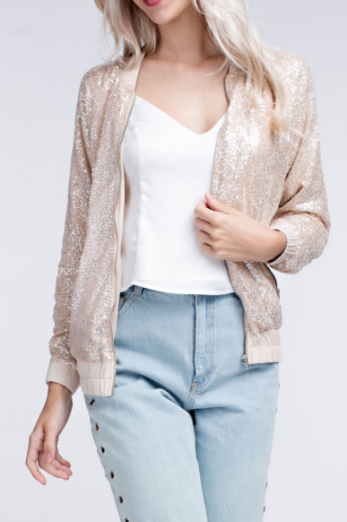 All That Glitters Is Gold Bomber Jacket