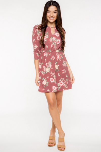 Sale - Bellamy Floral Knit Dress by Everly