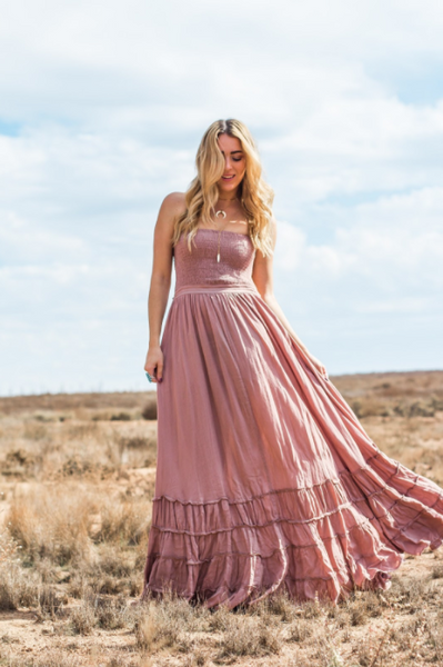 Ambrosia Maxi Dress - Dusty Rose
