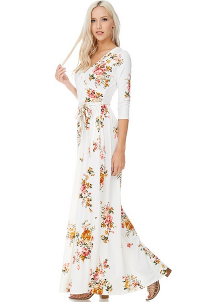Sunrise Long Sleeve Floral Maxi Dress