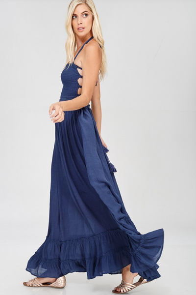 Aurora Maxi Dress - Navy Blue