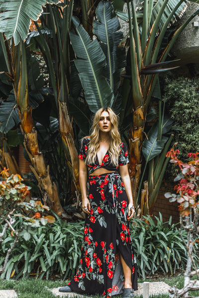 Rosebud Two Piece Floral Maxi Set