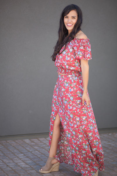 Lucca Two Piece Floral Maxi Set
