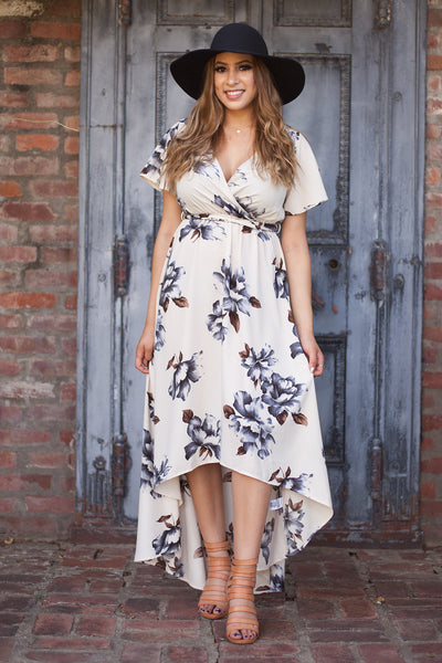 Clara High Low Floral Maxi Dress