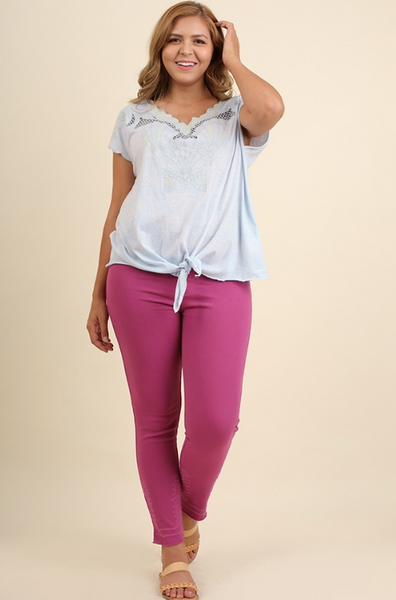 Plus Size - Hallie High Waisted Leggings With Back Pockets