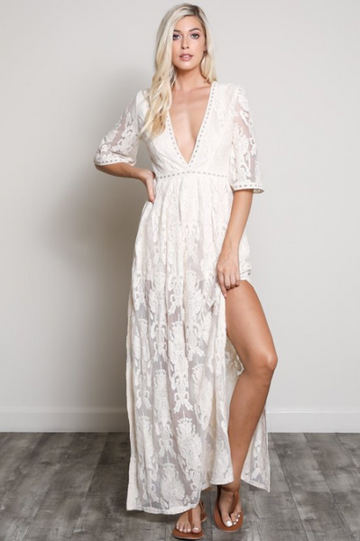 Bardot Lace Romper Dress V E R I T Y