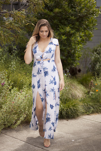 Flash Sale - Kaia Floral Maxi Dress - Lilac
