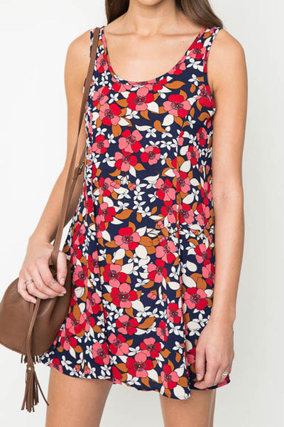 Harlow Navy Floral A-Line Dress