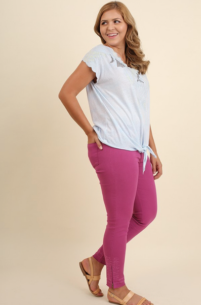 Plus Size - Hallie Jeggings With Back Pockets