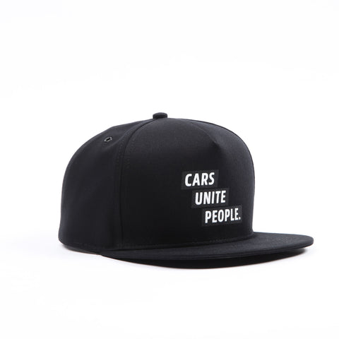 Cars Unite People Hat - Black