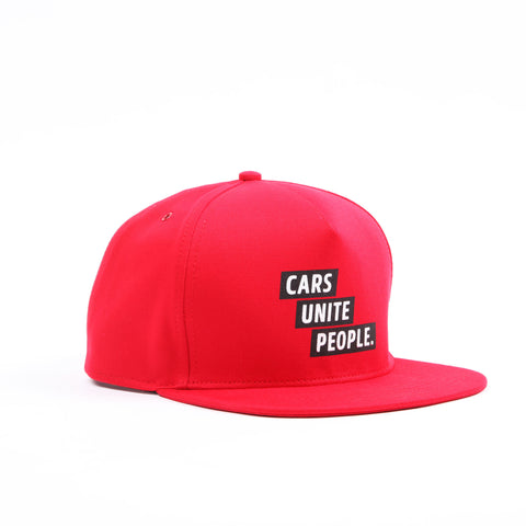 Cars Unite People Hat - Red
