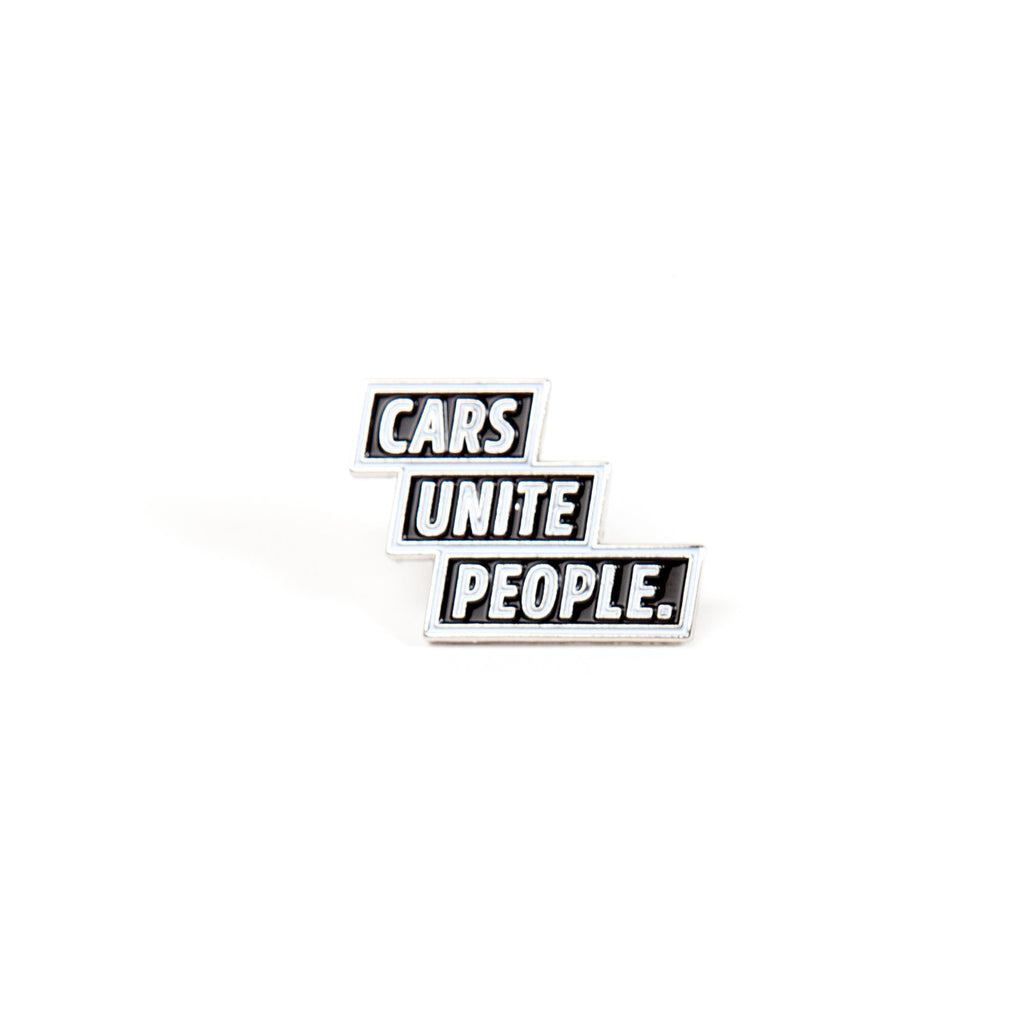Cars Unite People - Black (Lapel Pin)