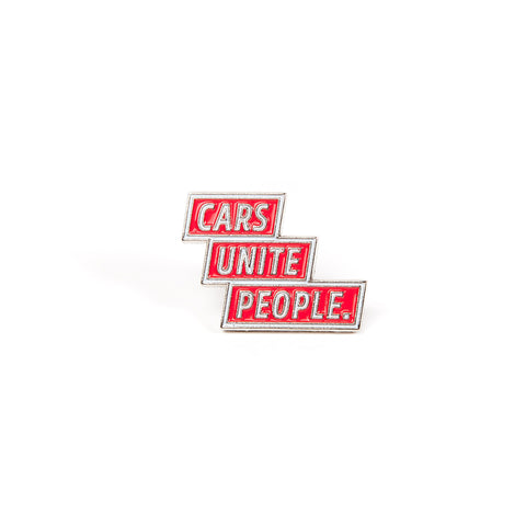 Cars Unite People - Red (Lapel Pin)