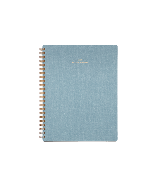 17 Month Weekly Notebook Planner from Appointed in Chambray Blue