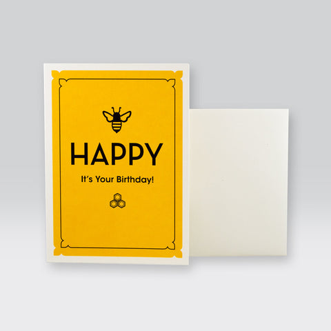 Bee Happy It's Your Birthday Card by SeltzerGoods