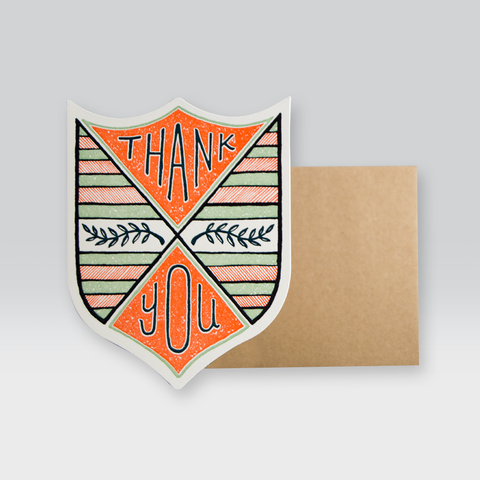 Thank You Laurel Badge by Hammerpress