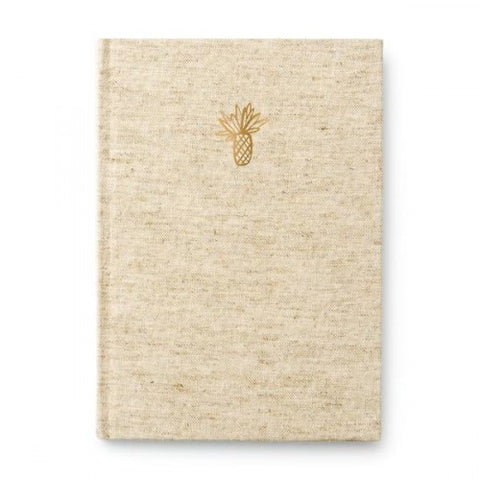 Pineapple Canvas Covered Journal by Mara Mi